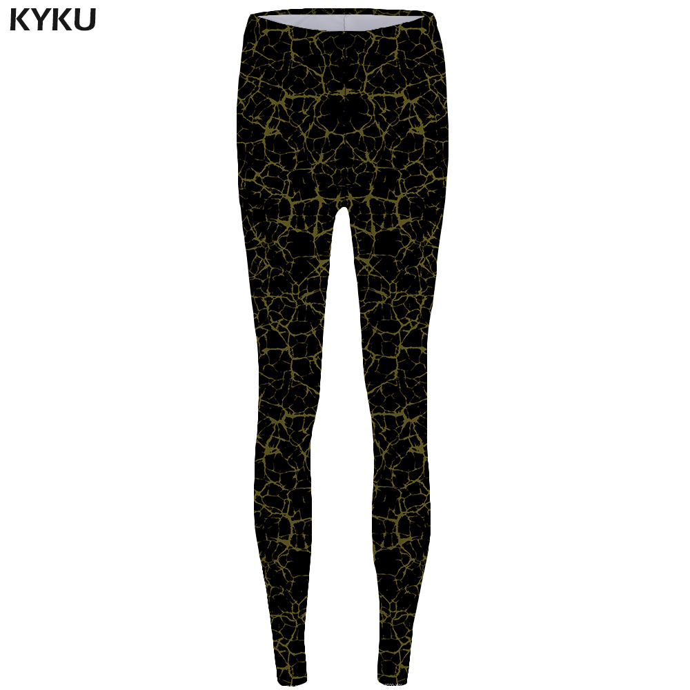 Kyku Weeds Leggings Leaf Sexy Leggings Fashion Print Legging   Trousers For  Leggins Fitness  Stretch Pants Women Spandex Funny