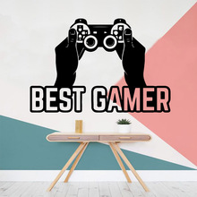 Modern best gamer Wall Art Decal Living Room Sticker Murals Waterproof Kids Decals naklejki