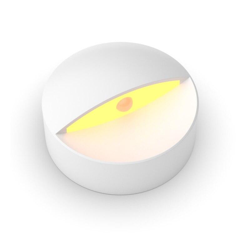 Creative Bedside Night Lights Body Sensor Led Lights Motion Detector Warm White Wardrobe Bedside Room Emergency Light Gift