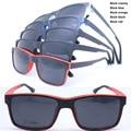 Wholesale P001- TR90 full rim megnatic easy clip on removable sunglasses polarized lens square optical glasses frame