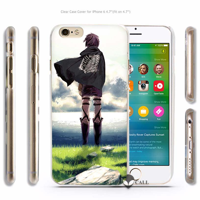 Attack on Titan Hard Transparent Phone Case for Apple iPhone