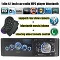 Бесплатная Доставка 4.1 дюйма Поддержка Bluetooth/Камера заднего вида/FM/Aux/USB/TF MP5 Player 7 Цвет фона 1Din Рулевого Колеса Дистанционного Управления