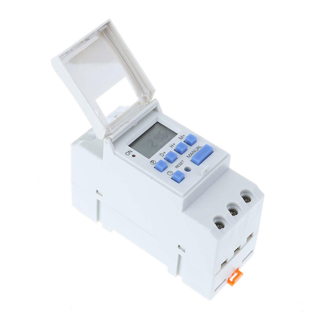 Mini 12V / 220V Electronic Switch Weekly Programmable LCD Dispaly Digital Switch Relay Timer Switch Controller Din Rail Mount 0 01 999 second 8 terminals digital timer programmable time relay
