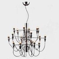 Бесплатная доставка 54 Вт 18 лампы Классическая подвесной светильник 220 В люстры столовая Гостиная