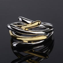 New Cross Rings Gold & Silver Color Finger Jewelry