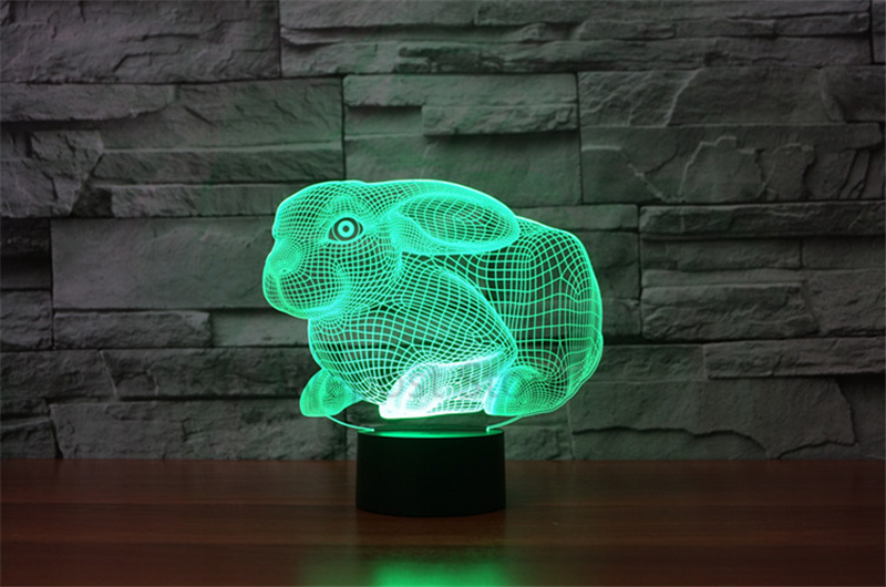 Leuke Slaapkamer Lamp : D haas bunny visuele lamp leuke konijn illusion led nachtlampje