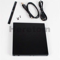 Heretom Slim ABS USB 2.0 SATA to SATA 12.7mm External Optical Drive Case CD DVD-ROM Enclosure for Laptop Notebook