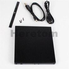 Heretom тонкий abs-пластик USB 2,0 SATA на SATA 12,7 мм Внешний оптический привод корпус CD DVD-ROM корпус для ноутбука