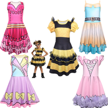 2019 New Birthday Girl Lol Party Dress Toddler Baby Halloween Carnival Unicorn Costume Summer Kids Fancy Floral