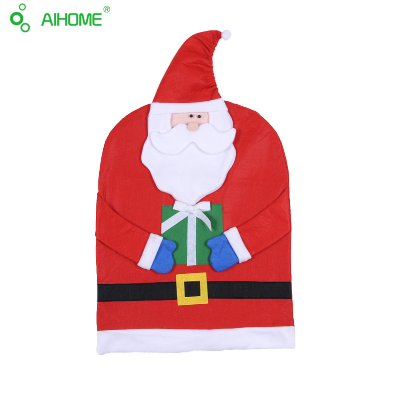 Mr And Mrs Santa Claus Seat Cover Kindly Old Man Christmas Party Decoration Use In House