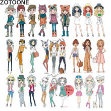 ZOTOONE Iron on Transfers for Clothing Diy Patch Fashion Girl Patches Clothes Thermo Stickers Application E