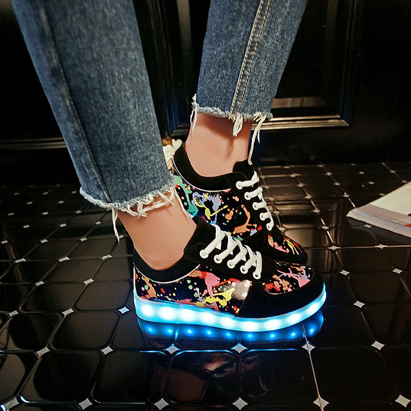 Image 3 - KRIATIV Slippers Led Usb Kids Light up shoes Led girl shoes infant tenis simulation Slippers do with Lights Up Luminous Sneakers-in Sneakers from Mother & Kids