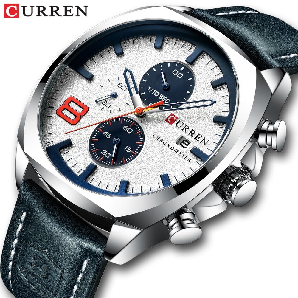 Top Brand Luxury Men Watches CURREN Military Analog Male Quartz Clock Men's Sport Wristwatch Relogio Masculino Waterproof Watch