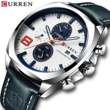 4edee8a331ea Superior de la marca de lujo de los hombres relojes CURREN militar analógico  hombre reloj de cuarzo de los hombres deporte reloj.