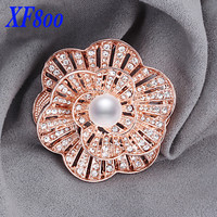 brand fine pearl jewelry ,Big flower natural pearl brooch pins for clothes AAAA high quality women anniversary gift B05