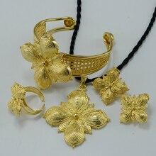 Habesha set ethiopia necklace/earrings/ring/bangle  gold plated eritrea set,enkutatash ethiopian new year jewelry #000820