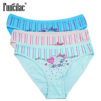 FUNCILAC Brand Underwear Women Love Print Briefs Sexy Panties kawaii Girls Shorts Cotton Female Lingerie Free Shiping 3pcs/lot sexy panti