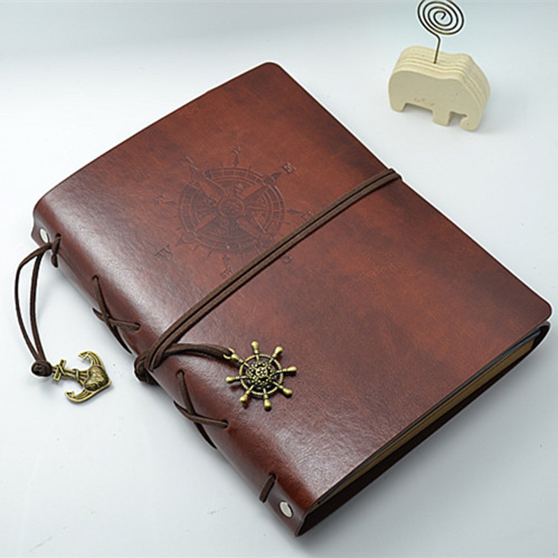 New Diy Handmade Creative Albums Romantic Souvenir: Leather Vintage Handmade DIY Photo Album Kraft