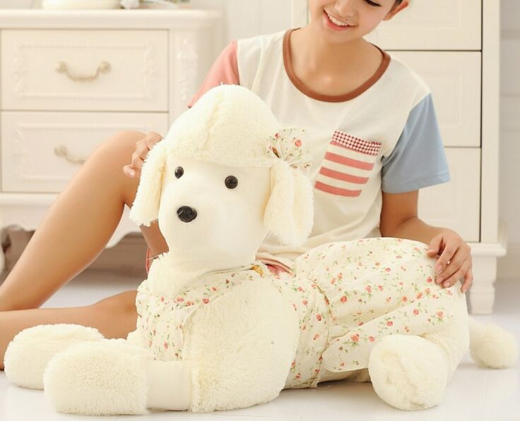 big lovely plush poodle dog toy stuffed lying dog pillow doll about 90cm 2684 fancytrader 120cm super lovely jumbo plush shar pei dog toy large dog doll sleeping pillow gift for child free shipping ft50048