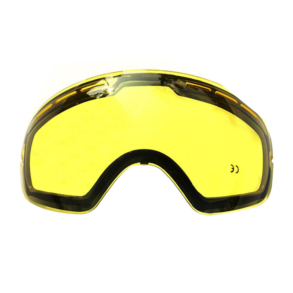 Hot!!brand double brightening lens for ski goggles Night of Model Number GOG-201 weak Light tint Weather Cloudy Drop Shipping