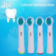 20 шт. Электрическая зубная Замена щеток для Braun Oral B Мягкая щетина, Vitality Dual Clean/Профессиональный уход SmartSeries