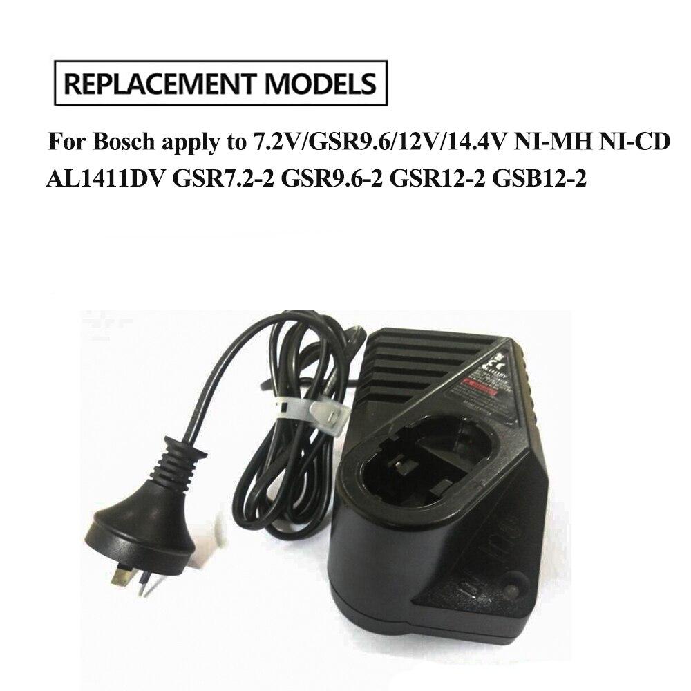 GSB12-2 Bater/ía AL1411DV bater/ía Cargador para Bosch 7.2V // 12V // 14.4V NI-CD NI-MH GSR7.2-2 GSR9.6-2 GSR12-2