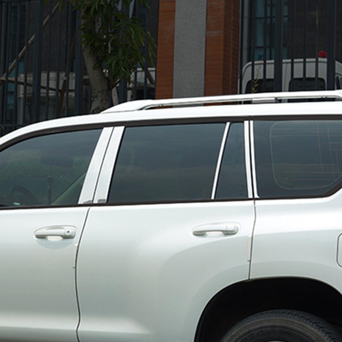 Style de voiture pour Toyota Prado 150 2010 2011 2012 2013 2014 2015 2016 2017 2018 De Fenêtre En Acier Inoxydable Pilier 10 pièces/ensemble