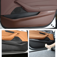For 18 BMW 5 Series 528 530 540 Accessories Car Door Anti kick Pad Sticker Ultra thin leather PVC Door Protection Side Edge Film