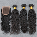 7a Brazilian Water Wave With Closure 3 bundles deals Brazilian Virgin Hair Water Wave Wet and Wavy Natural Wave with Closure