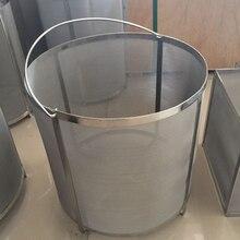YUEWO фильтр, дополнительный объем 13, 7x13, 7 дюймов пивоваренный бункер паук фильтр 304 нержавеющая сталь 300-400 микрон сетка Homebrew хмель пиво