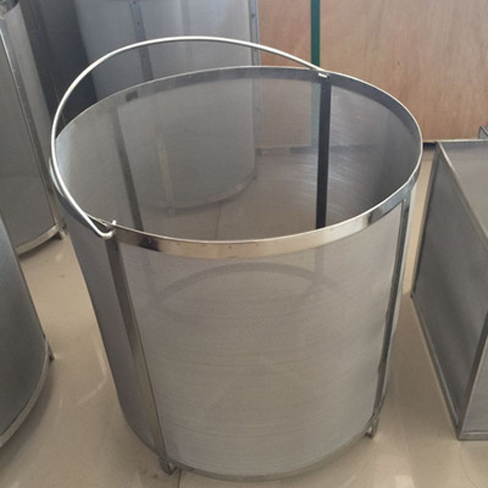 YUEWO Filter Extra Large13.7x13.7Inch Brewing Hopper Spider Strainer 304 Stainless Steel 300 400 Micron Mesh Homebrew Hops Beer Bar Furniture Sets     - title=
