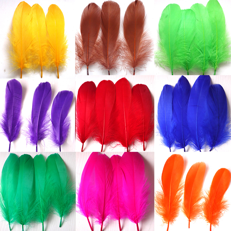 Diy Feathers 15 Cm 20 Natural Goose Feather Colorful Feathers Wedding Decoration Party Clothing