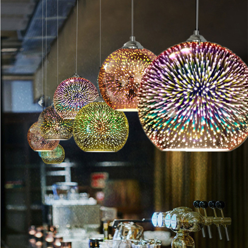 Classic design LED lamp pendant light diameter 15/20cm 3D colorful Plated Glass Mirror Ball hanging light fixtureClassic design LED lamp pendant light diameter 15/20cm 3D colorful Plated Glass Mirror Ball hanging light fixture