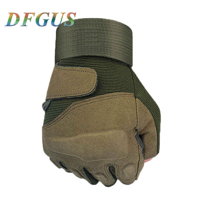 Tactical Hard Knuckle Fingerless Gloves Military Army Bicycle Shooting Paintball Airsoft Motorcross Half Finger Gloves Men Women