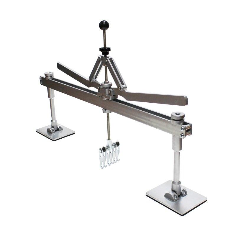 Dent extrator kit ferramentas manuais de reparo do corpo do carro de alumínio com pés e 6 2 dedo garra de urso spotter acessório