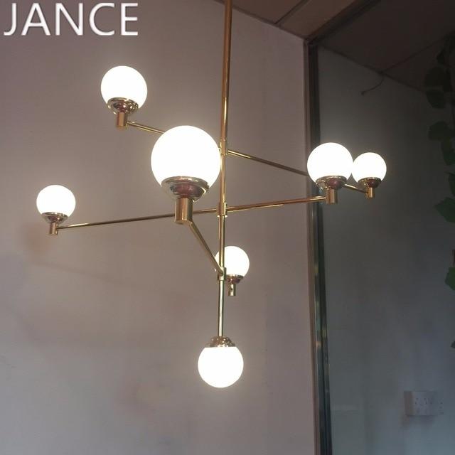Frosted glass ball lampadario oro corpo bella decorazione per  soggiorno/cucina design moderno lampada a