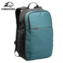 Kingsons Мужчины Женщины Марка Внешний USB заряжать ноутбук рюкзак Anti-Theft ноутбук сумка 15.6 дюймов для бизнеса Mochilas