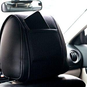 Image 3 - 1pcs car headrest cover auto fit for Dacia Duster Logan Sandero 2 Mcv Sandero Car Seat Cover