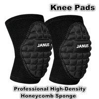 Deportes profesionales rodilleras danza voleibol baloncesto fútbol protección rodilla de alta densidad esponja panal L160