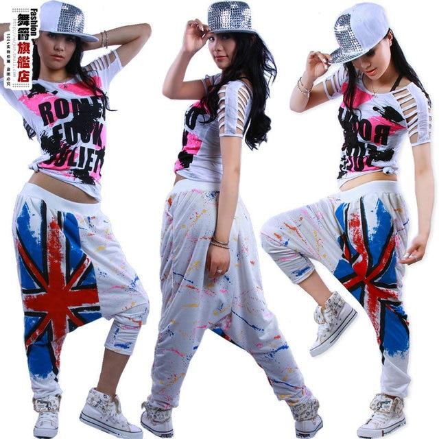 6392025384590 Nueva moda Pantalones sueltos Doodle Sweatpants disfraces mujer M palabra  estampado jazz ds Harem Hip Hop