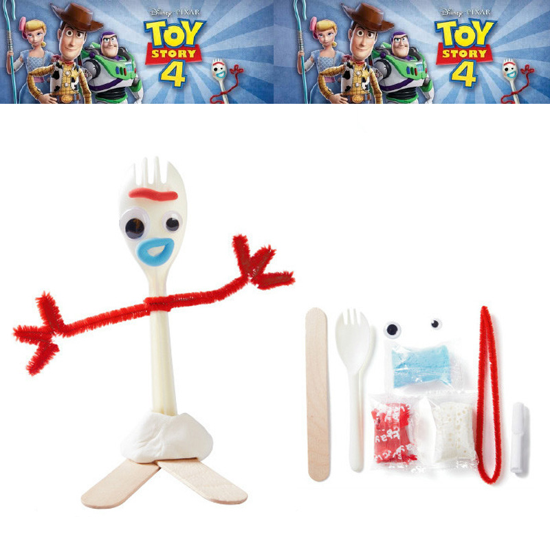 Toy Story 4 Buzz Lightyear Forky Alien Woody Kid Craft Handmade Art DIY Forky Action Figures Toys Kid Educational Toys