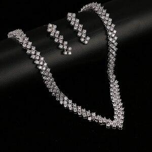 Image 3 - Emmaya New Zircon Crystal Rhinestone Stone Earrings Necklace Jewelry Set Wedding Party New Women Free Shipping