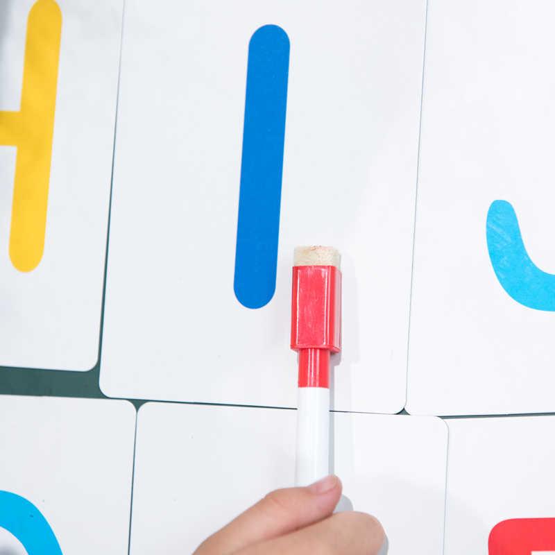 6 יח'\סט חדש לגמרי מגנטי עט לוח מחיק לוח לבן יבש סמני מגנט מובנה ספר משרד מחק
