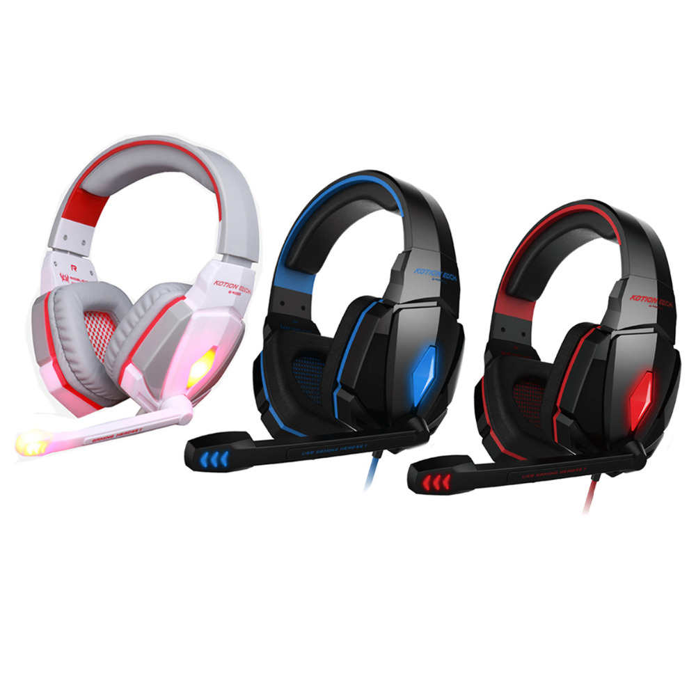 Best PC Gamer Casque audio Gaming Headset G4000 Glow Earphone Luminous Headphone with Mic Hifi Stereo Bass LED glowing Light