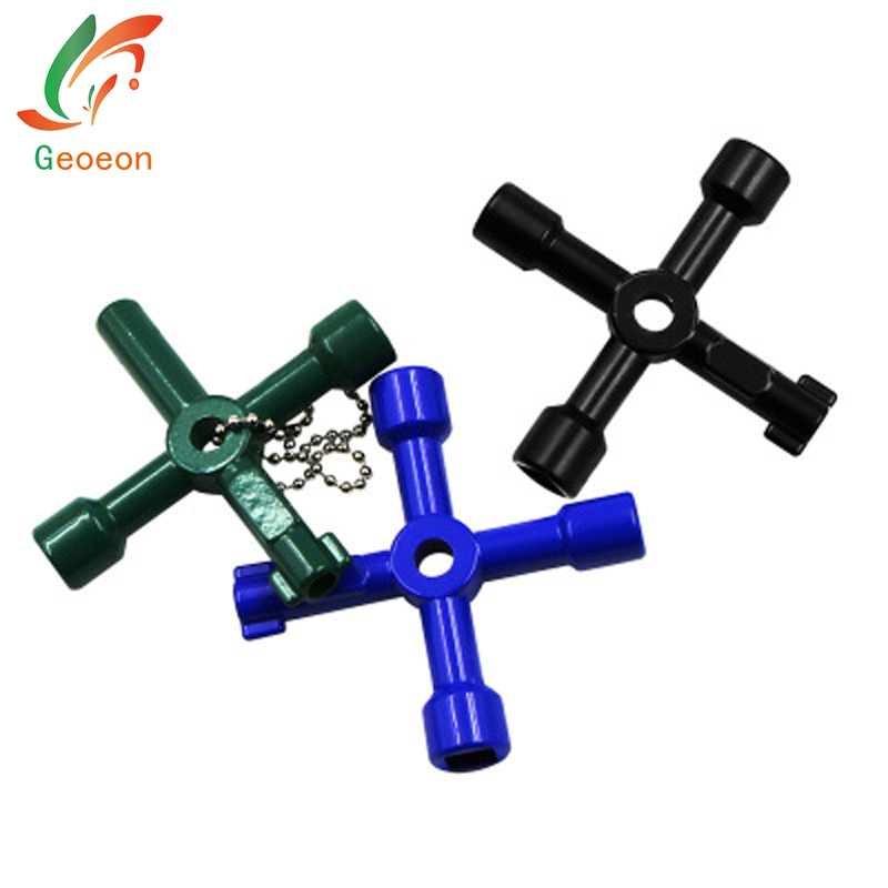 Objective 4 In 1 Key Cross Switch Wrench Key Wrench For Train Electric Control Elevator Cabinet Valve Train Electrical Cupboard Box A47