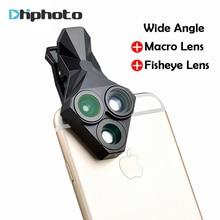 Ulanzi 3 in 1 Phone Camera Lens Kit Wide Angle Macro Fisheye Lens for iPhone Samsung HUAWEI VIVO Xiaomi Smart Mobile phones