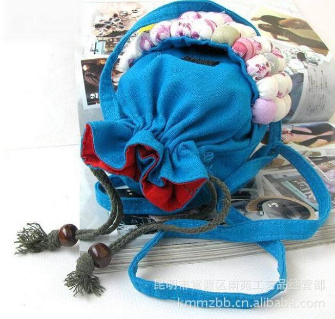 10 Teile/los Neue Ankunft Klassische Retro Ethnische Yunnan Nationalitäten Hin Tuch Paket Mini Ball Tasche Handtasche GüNstigster Preis Von Unserer Website