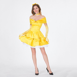 Image 5 - VASHEJIANG Classic Anime Belle Princess Costume Beauty and the Beast Costume Women Fantasia Halloween Costumes Fancy Party Dress