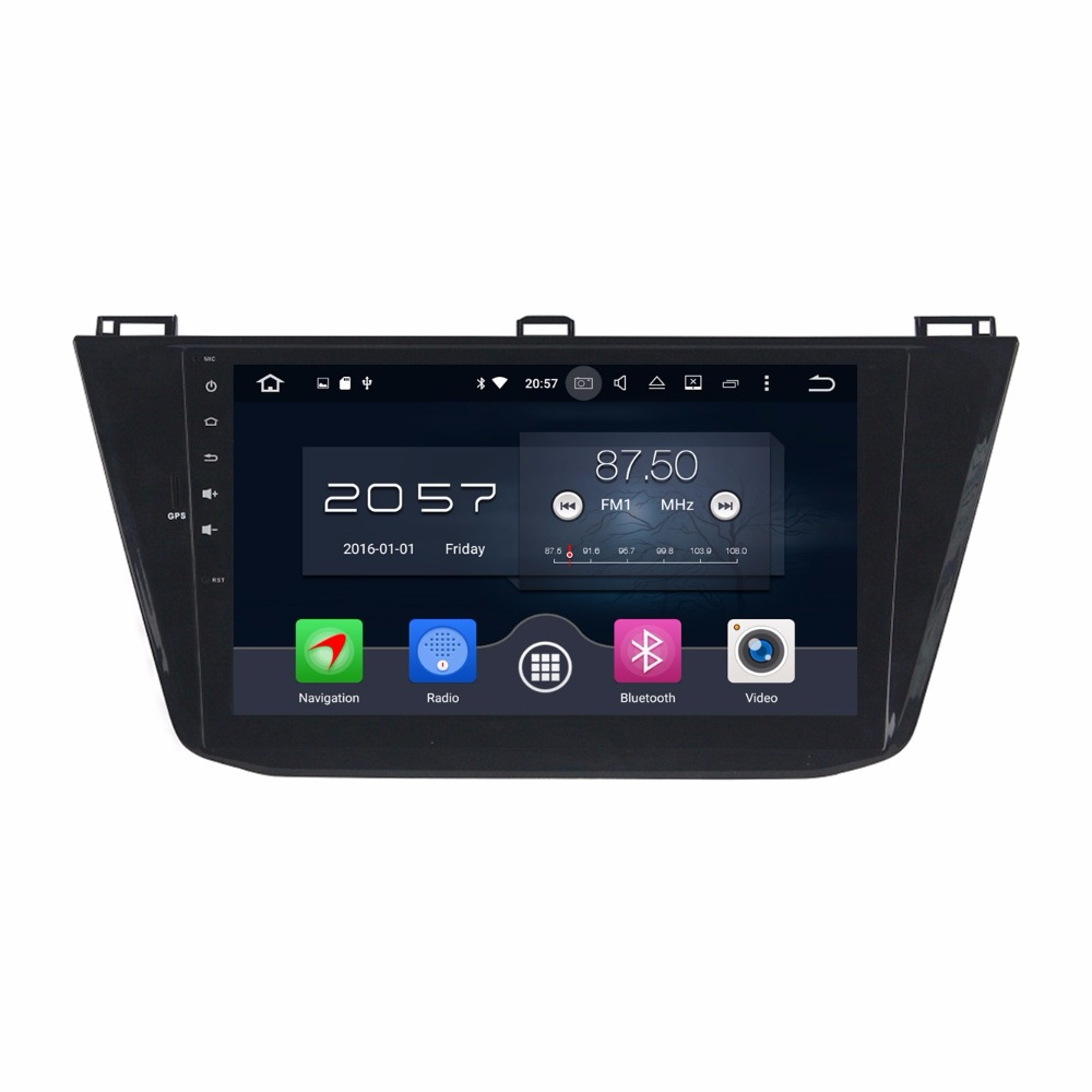 Octa Core 10.1 Android 6.0 Car Audio DVD GPS for VW Volkswagen Tiguan 2016 With 4GB RAM Radio Bluetooth 4G WIFI 32GB ROM USB