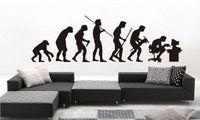 nieuwe evolutie van de mens verwijderbare muurstickers home decor kunst sticker muurschildering kamer diy papier d351